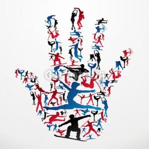 main en sportif